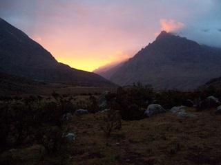 Sunset en Cordillera Blanca