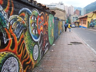 Wall in La Candelaria